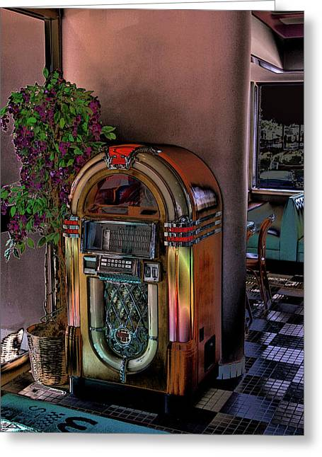 Oldies Greeting Cards - Winsteads Jukebox Greeting Card by Tim McCullough
