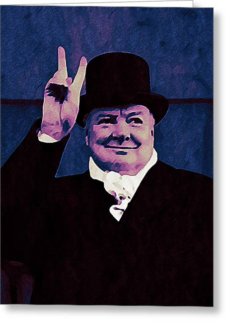Minister Greeting Cards - Winston Churchill Greeting Card by Bill Cannon