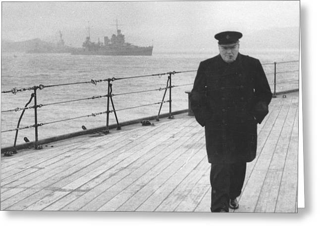 Leader Greeting Cards - Winston Churchill Greeting Card by English Photographer