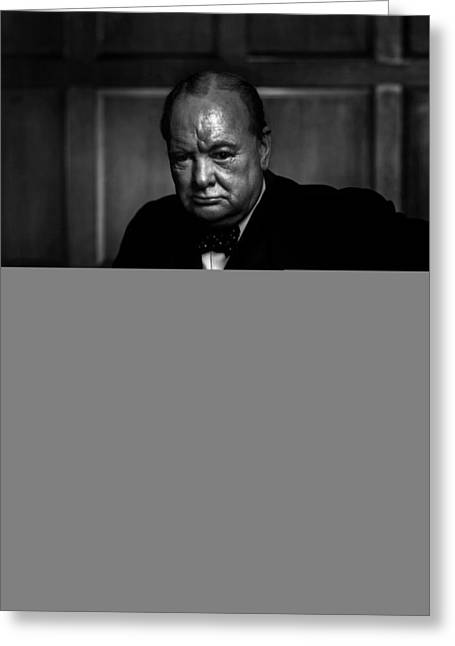 Orator Digital Art Greeting Cards - Winston Churchill Greeting Card by Unknown