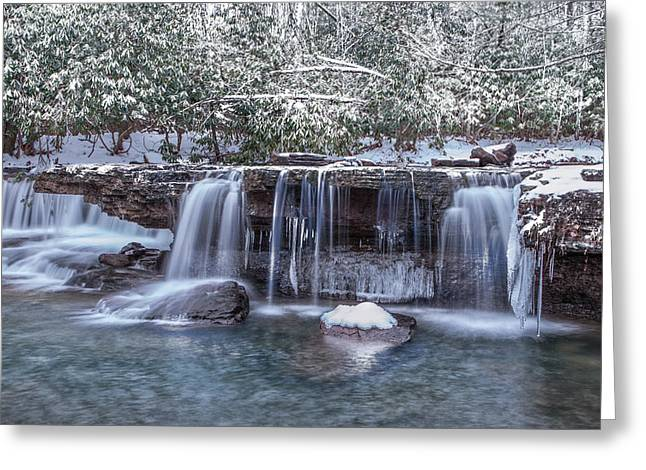 Best Sellers -  - West Fork Greeting Cards - Winter a Camp Creek Greeting Card by Mary Almond