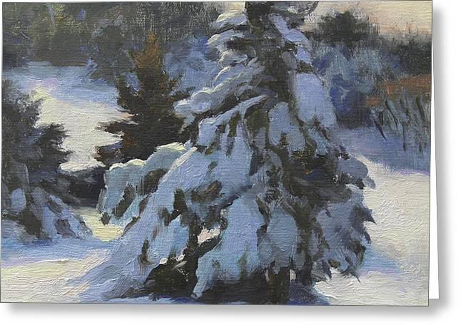Winter Adornments Greeting Card by Anna Bain