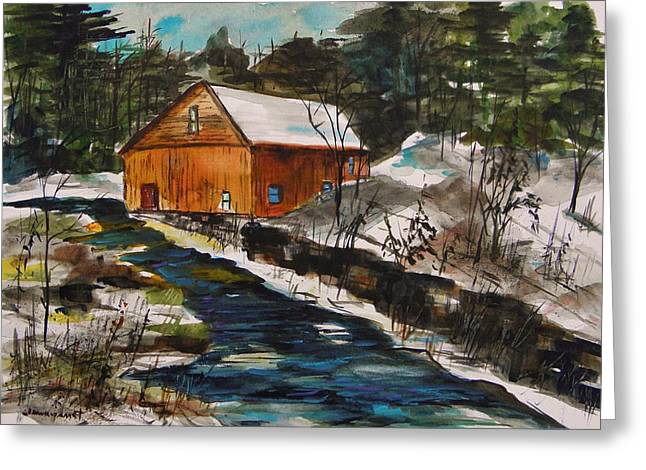 Afternoon Drawings Greeting Cards - Winter Afternoon Greeting Card by John  Williams