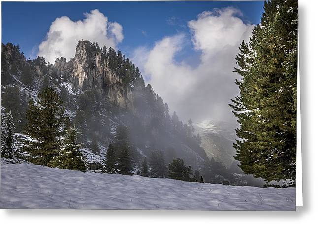 Relaxen Greeting Cards - Penken Tyrol Alps Winter Landscape Photography Greeting Card by Alex Saunders