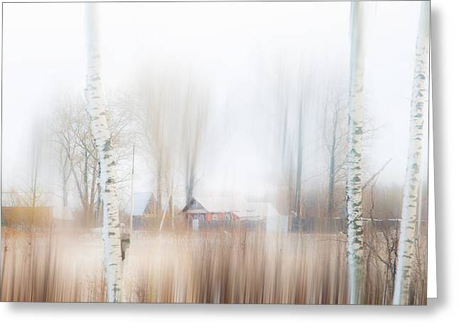 Aquarel Greeting Cards - Winter Aquarel. Russia Greeting Card by Jenny Rainbow