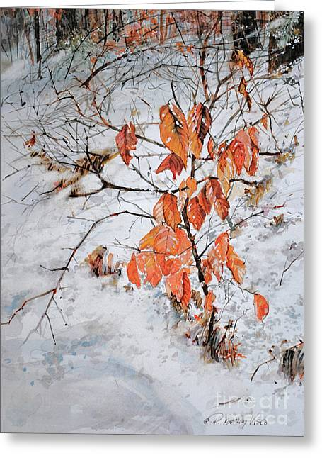 Winter Ash Greeting Card by P Anthony Visco