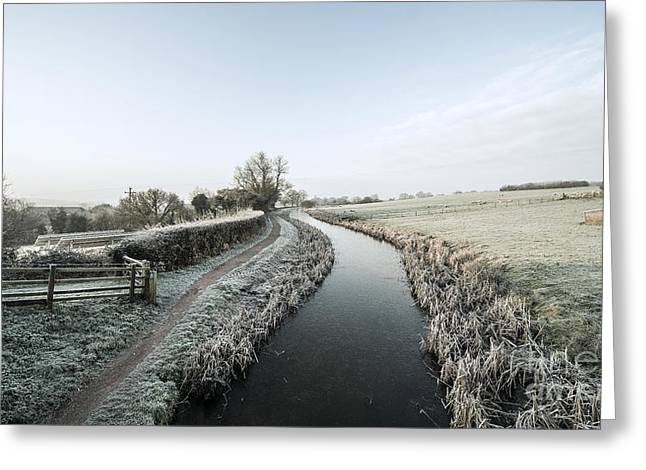 Peverell Greeting Cards - Winter at Ayshford  Greeting Card by Rob Hawkins