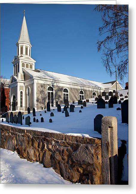 Winter At Saint Bernard Catholic Church Greeting Card by Brian Jannsen