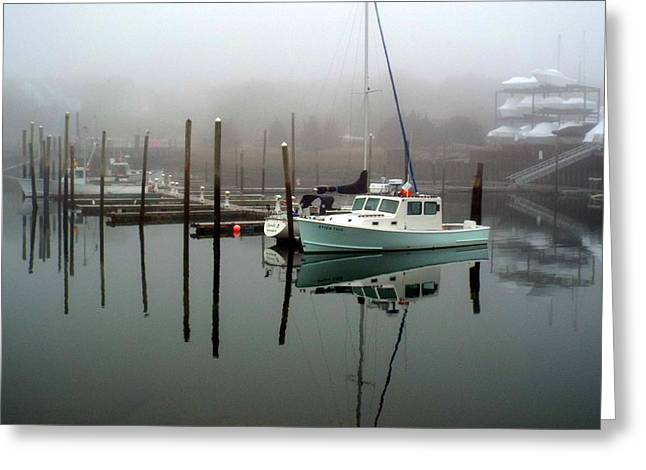 Dennis Ma Photographs Greeting Cards - Winter at Sesuit Harbor Greeting Card by Dianne Cowen