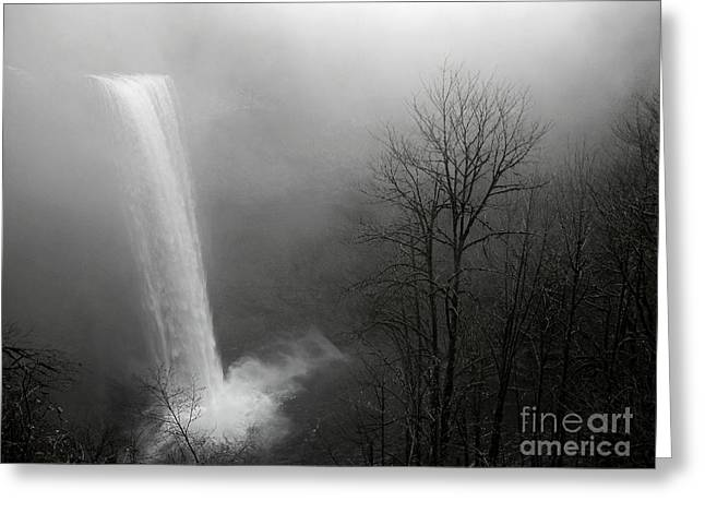 Boren Greeting Cards - Winter At Silver Creek Falls Greeting Card by Nick  Boren