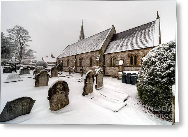 Historic Architecture Digital Art Greeting Cards - Winter at St Paul Greeting Card by Adrian Evans