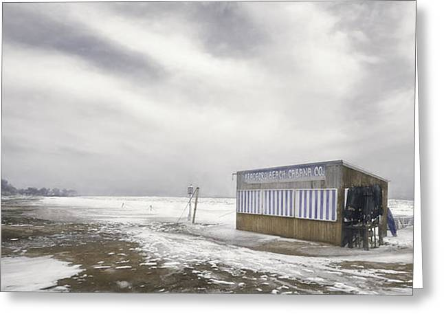Cabanas Greeting Cards - Winter at the Cabana Greeting Card by Scott Norris