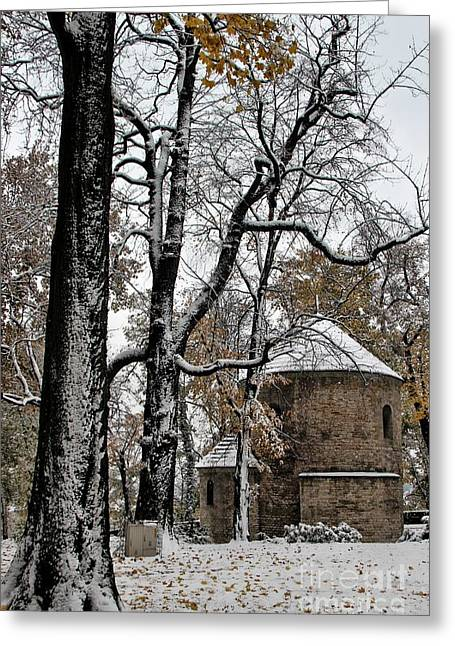 The Nature Center Greeting Cards - Winter at the Castle Greeting Card by Mariola Bitner