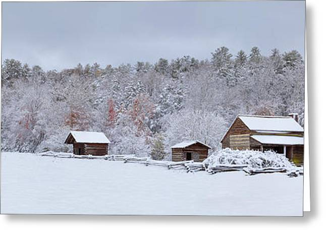 Blizzard Scenes Greeting Cards - Winter at the Dan Lawson Place Greeting Card by Yoder Images