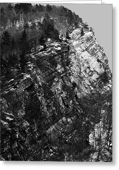 Appalachian Trail Greeting Cards - Winter At The Gap Greeting Card by James Chesnick