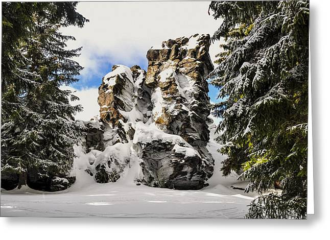 Winter At The Stony Summit Greeting Card by Aged Pixel