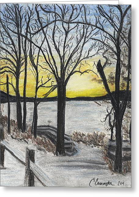 Freeze Pastels Greeting Cards - Winter at Wallenpaupack Greeting Card by E Carrington