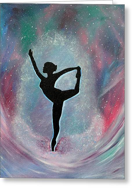 Winter Ballet Dancer Greeting Card by Vicki Kennedy