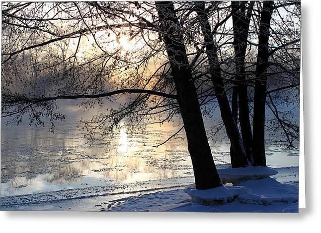 Reflections In River Greeting Cards - Winter Ballet Greeting Card by Hanne Lore Koehler