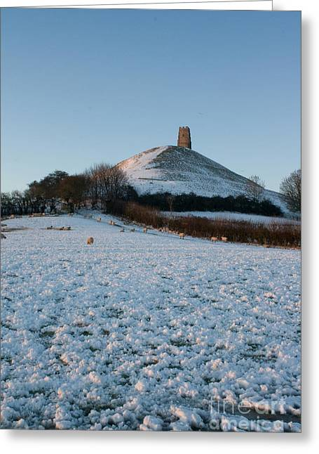 Ley Lines Greeting Cards - Winter Greeting Card by Barry Collier