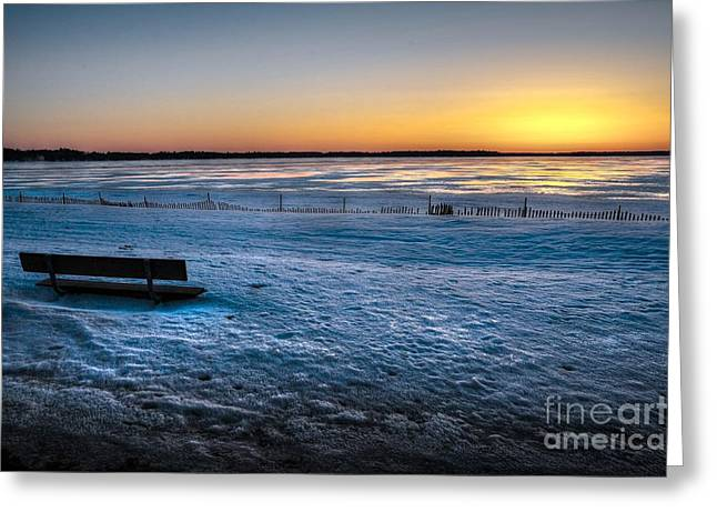 Card Greeting Cards - Winter Beach Greeting Card by Terri Gostola