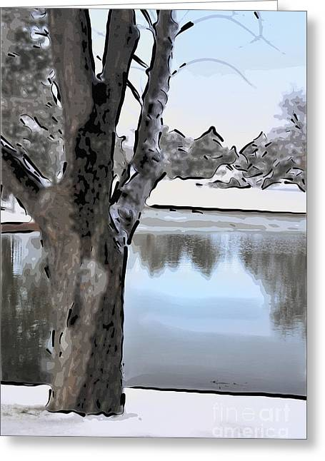 Snowy Day Digital Greeting Cards - Winter Beauty Greeting Card by Betty LaRue