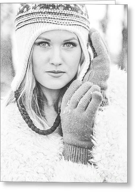 White Mittens Greeting Cards - Winter Beauty Greeting Card by Jt PhotoDesign