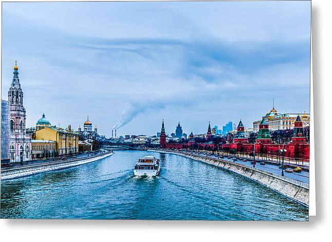 Cupola Greeting Cards - Winter Begins In Moscow Greeting Card by Alexander Senin