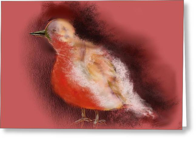 Steve Urwin Greeting Cards - Winter Bird Greeting Card by Steve Urwin