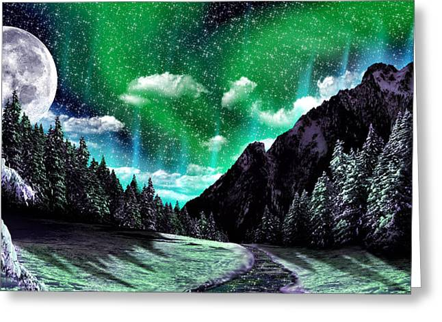 Winter Scene Digital Art Greeting Cards - Winter Bliss Greeting Card by Anthony Citro