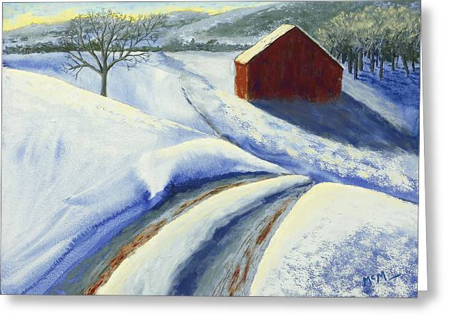 Rural Scene Pastels Greeting Cards - Winter Blues Greeting Card by Garry McMichael