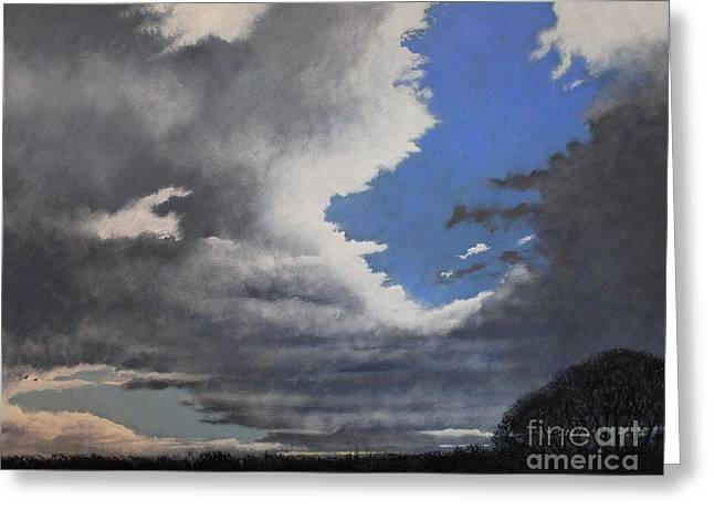 Winter Blues Greeting Card by Paul Horton