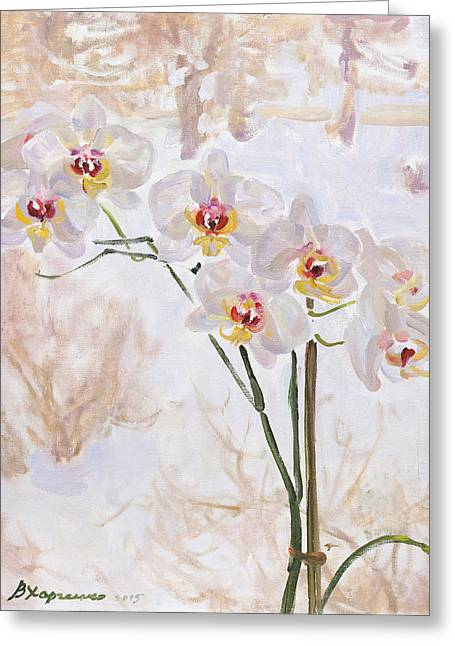Flower Still Life Greeting Cards - Winter butterflies Greeting Card by Victoria Kharchenko