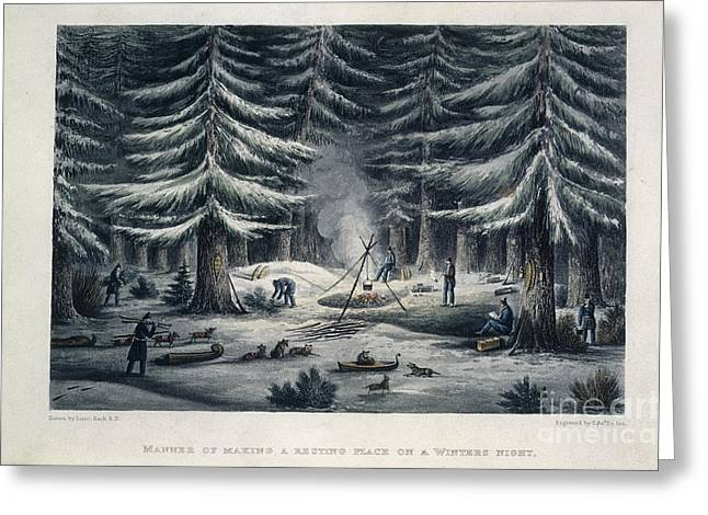 A Journey Greeting Cards - Winter Camp Greeting Card by British Library