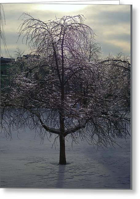 Winter Candelabrum Greeting Card by Henryk Gorecki