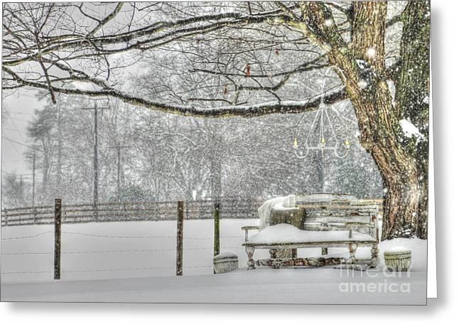 Mebane North Carolina Greeting Cards - Winter Charm Greeting Card by Benanne Stiens
