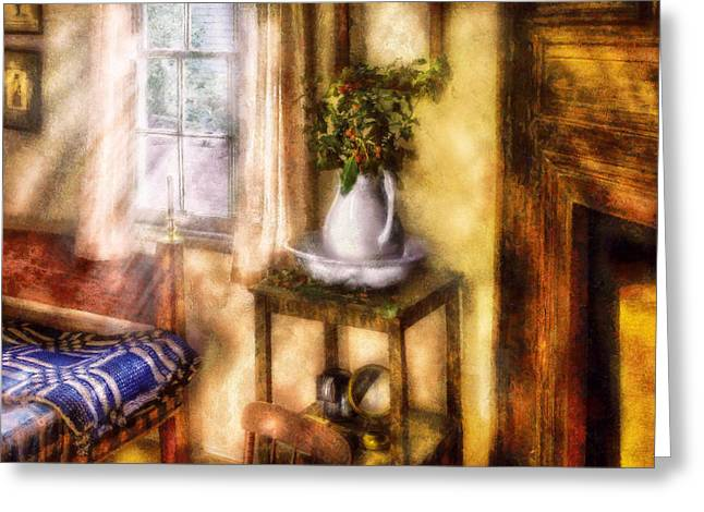 Old Pitcher Greeting Cards - Winter - Christmas - Early Christmas Morning Greeting Card by Mike Savad