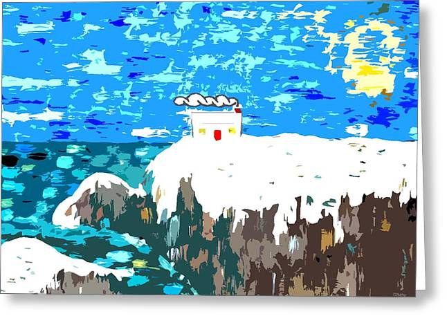 Landscape Posters Mixed Media Greeting Cards - Winter Coast Greeting Card by Patrick J Murphy