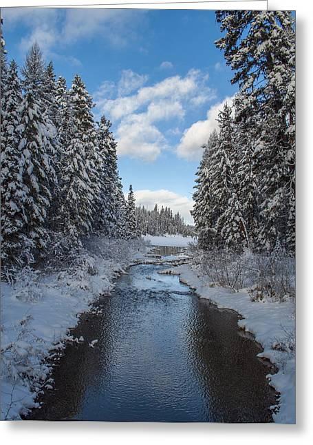 Daysray Photography Greeting Cards - Winter Creek Greeting Card by Fran Riley