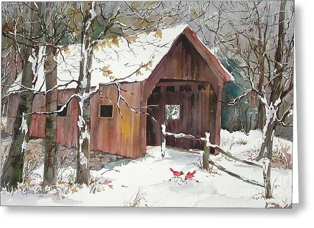 Best Sellers -  - New England Snow Scene Greeting Cards - Winter Crossing Greeting Card by Sherri Crabtree