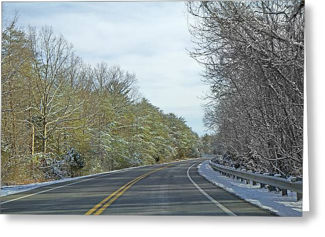 Blacktop Greeting Cards - Winter Cruise Greeting Card by Betsy C  Knapp