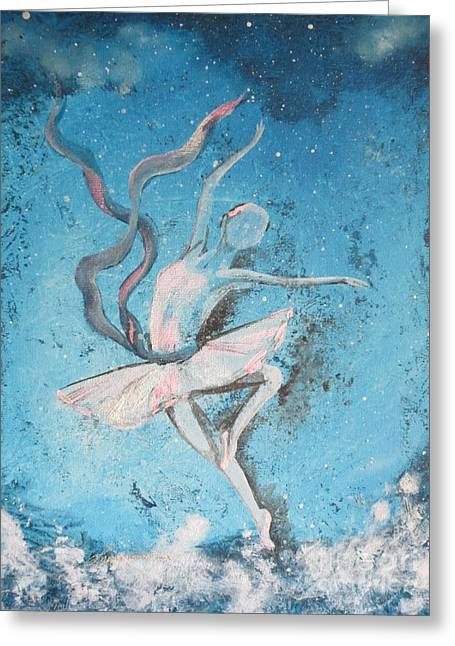 Dancer Greeting Cards - Winter Dancer1 Greeting Card by Laurianna Taylor