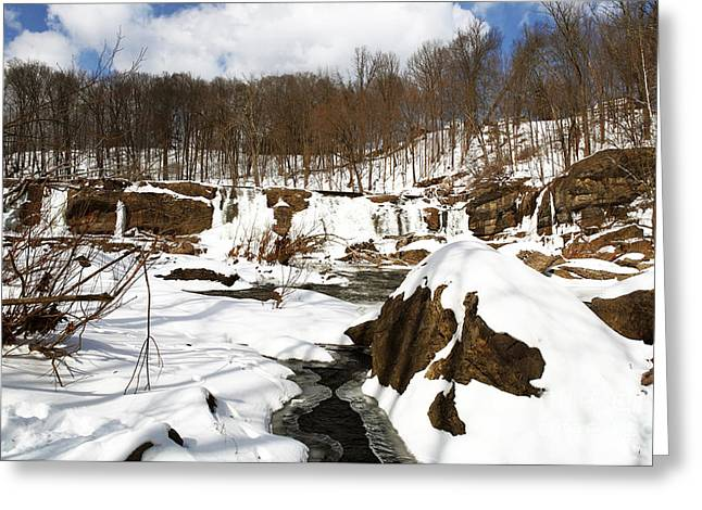 Winter Day Greeting Card by John Rizzuto