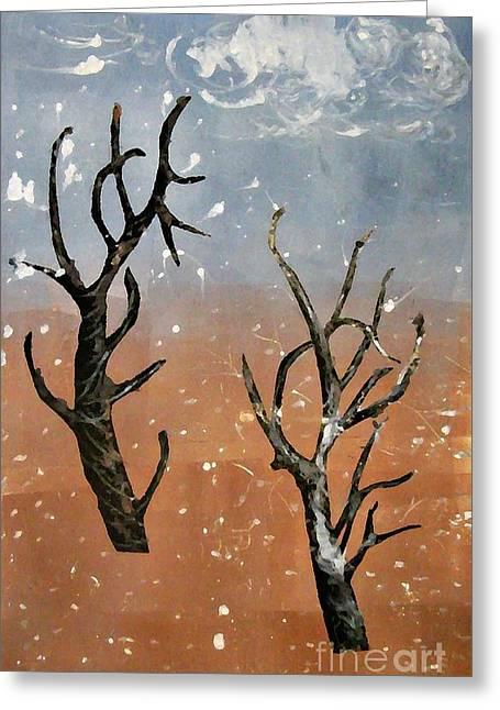 Sarah Loft Paintings Greeting Cards - Winter Day Greeting Card by Sarah Loft