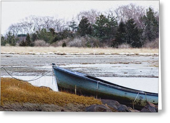 Cohasset Greeting Cards - Winter Dory Greeting Card by Carol Sutherland