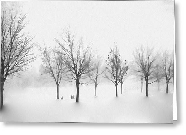 Celebration Art Print Digital Art Greeting Cards - Winter Dream Greeting Card by Kathy Bassett