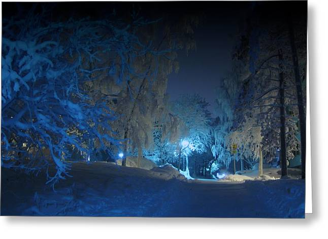 Blueish Greeting Cards - Winter Dreamland Greeting Card by Mountain Dreams