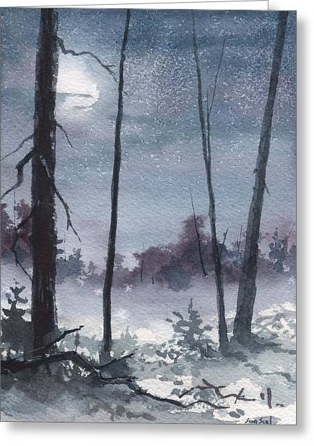 Winter Dreams Greeting Card by Sean Seal