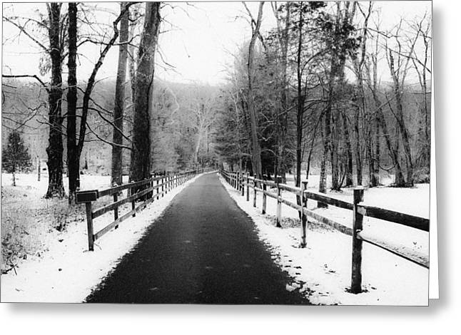 Snowy Roads Digital Art Greeting Cards - Winter Drive Greeting Card by Bill Cannon