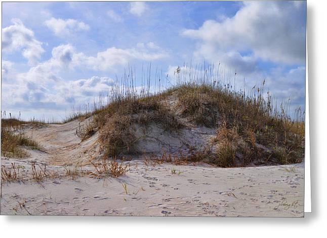 Google Digital Greeting Cards - Winter Dune - Wrightsville Beach Greeting Card by Paulette B Wright